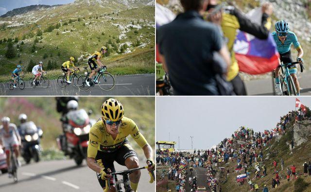 Kraljevska 17. etapa je v zadnjih kilometrih rinesla veliko razburjenja, Lopez je slavil zmago, Roglič pa je povečal prednost pred Pogačarjem. FOTO: Kenzo Tribouillard/AFP