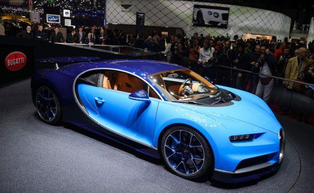 Bo Bugatti, na sliki je njegov aktualni model chiron, res prešel v navezo s hrvaškim Rimcem? FOTO:AFP