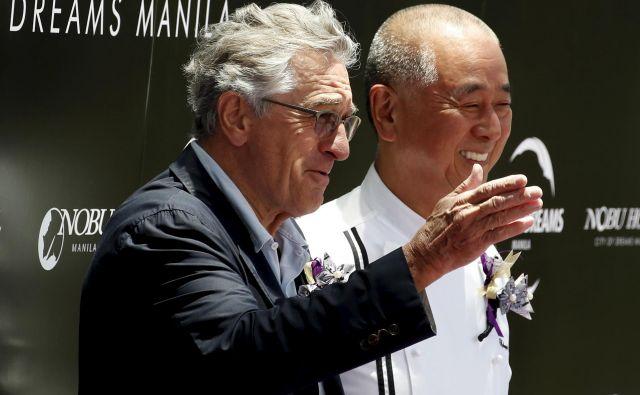 De Nirovo življenje se je spremenilo, ko je vstopil v restavracijo japonskega kuharskega mojstra Nobujukija Macuhisa. FOTO: Erik De Castro/Reuters