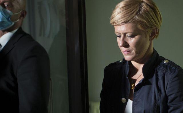 Aleksandra Pivec izgublja podporo tudi v lastni stranki. FOTO: Jure Eržen/Delo