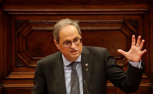 Predsednik katalonske vlade je včeraj sporočil, da bo neposlušen še naprej. Foto Nacho Doce/Reuters