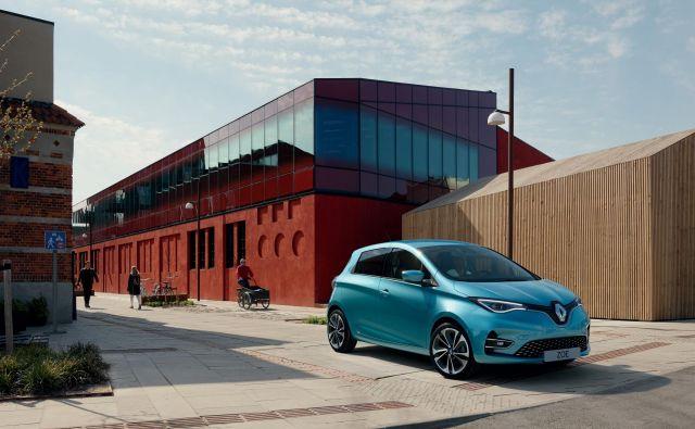 Renault ZOE je zastavonoša električne mobilnosti znamke Renault.FOTO: Renault