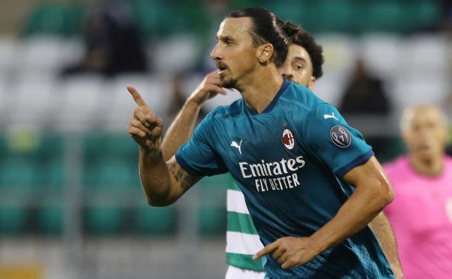 Zlatan Ibrahimović je bil ključni mož četrtkove zmage Milana na Irskem v drugem kolu kvalifikacij za evropsko ligo. FOTO: Lorraine O'sullivan/Reuters