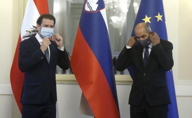 Prolog v koroško plebiscitno jesen je nakazal obisk avstrijskega kanclerja Sebastiana Kurza v Sloveniji. Foto: Blaž Samec/Delo