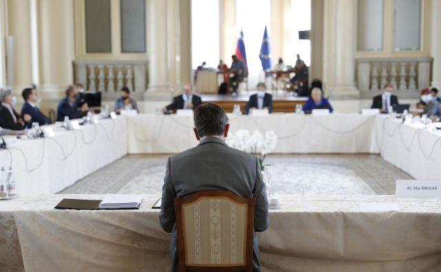 Posvet pri predsedniku države Borutu Pahorju o RTV Slovenija FOTO: Leon Vidic