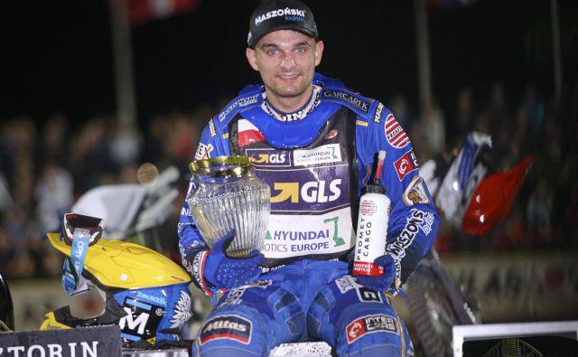 Poljak Bartosz Zmarzlik se je v Pragi veselil druge letošnje in skupno osme zmage za svetovno prvenstvo. FOTO: Jože Suhadolnik
