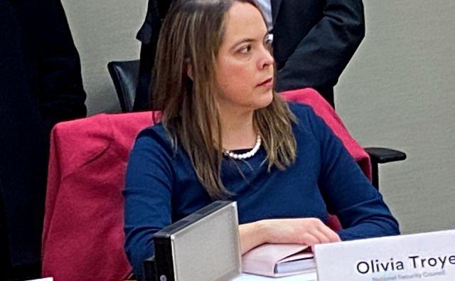 Olivia Troye je bil tudičlanica delovne skupine Bele hiše proti koronavirusu. FOTO: Jeff Mason/Reuters