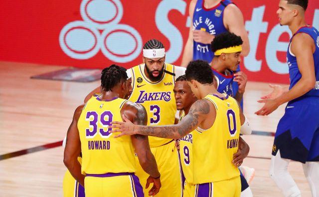 Košarkarji moštva Los Angeles Lakers za uvrstitev v veliki finale potrebujejo še tri zmage. FOTO: Kim Klement/USA Today Sports