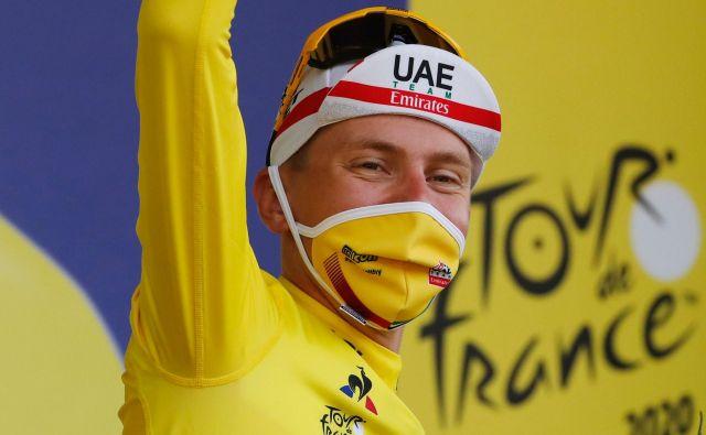 Tadej Pogačar je v 20. etapi Toura pripravil zgodovinski zasuk. FOTO: Christophe Ena/AFP