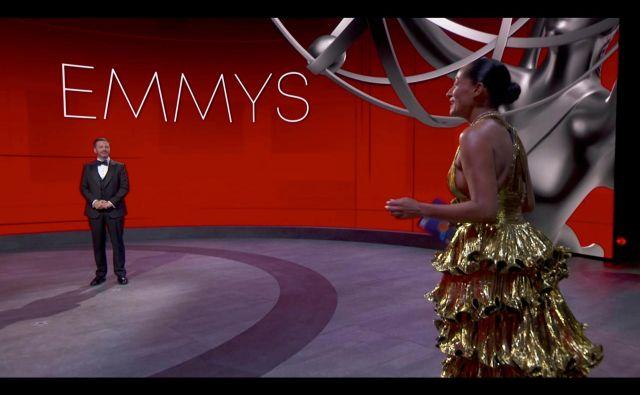 Emmyji so bili prva velika hollywoodska podelitev nagrad v eri covida-19. FOTO: AFP