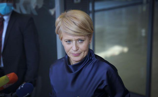Aleksandra Pivec je v tem mesecu že odstopila kot predsednica stranke Desus. FOTO: Jože Suhadolnik/Delo
