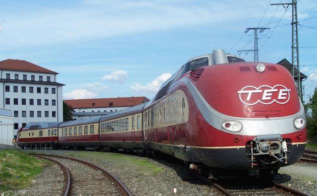 Trans Europ Express je bil tri desetletja pojem udobnega in luksuznega potovanja z železnico. FOTO: Wikipedia