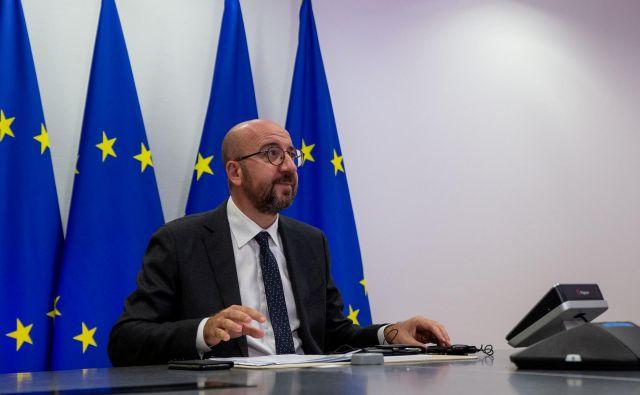 Predsednik Evropskega sveta Charles Michel je moral v karanteno. FOTO: Reuters