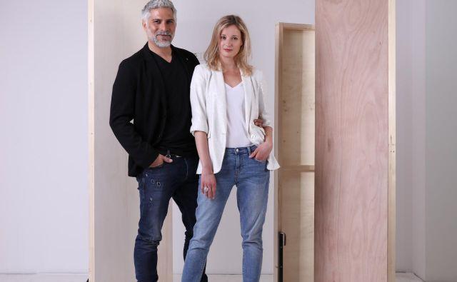 Sebastian Cavazza in Ajda Smrekar Foto: Peter Giodani/arhiv MGL