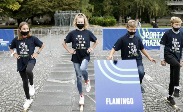 Slovensko zaznamovanje telesne kulture je sovpadlo s prvim dnevom evropskega tedna športa. Domači prireditelji si želijo vključiti v dejavnosti okoli 200.000 udeležencev. Foto Blaž Samec