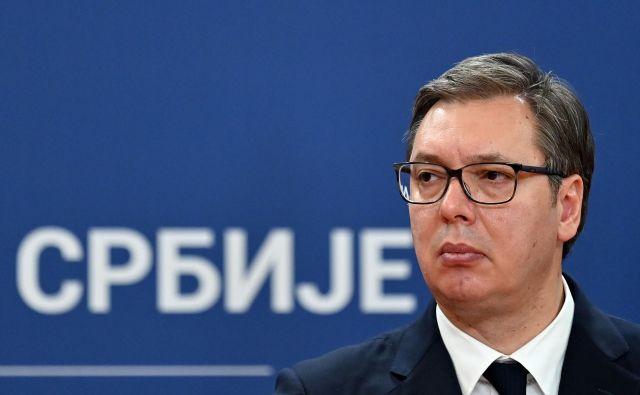 Aleksandar Vučić je v govoru izpostavil vlogo ameriške administracije pri iskanju sprejemljive rešitve kosovskega vprašanja.<br /> Foto Andrej Isaković/AFP