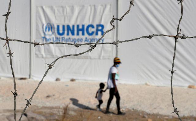 Novo begunsko taborišče Kara Tepe na Lezbsu. FOTO: Yara Nardi/Reuters