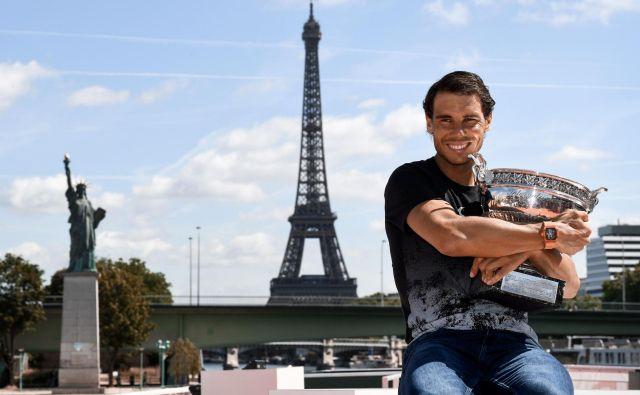 Rafael Nadal je teniški kralj Pariza, osvojil je že 12 naslovov. FOTO Christophe Simon/AFP