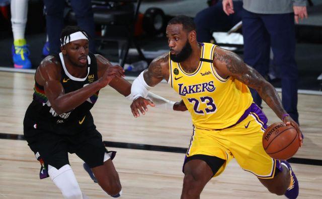 LeBron James bo spet igral na mišice, da z jezerniki pride do velikega finala lige NBA. FOTO: Kim Klement/Usa Today Sports