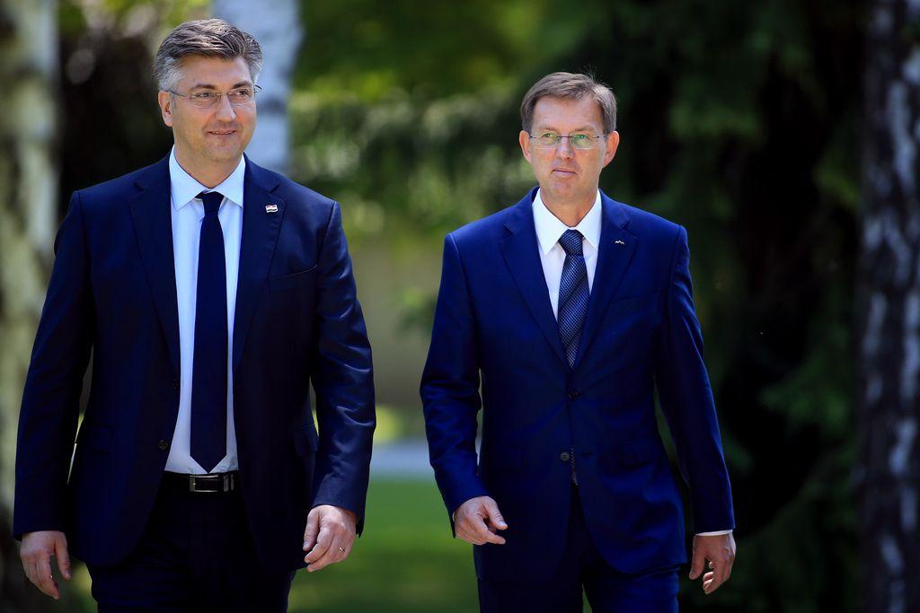 Janševa in Plenkovićeva sporočila Cerarju iz Zagreba
