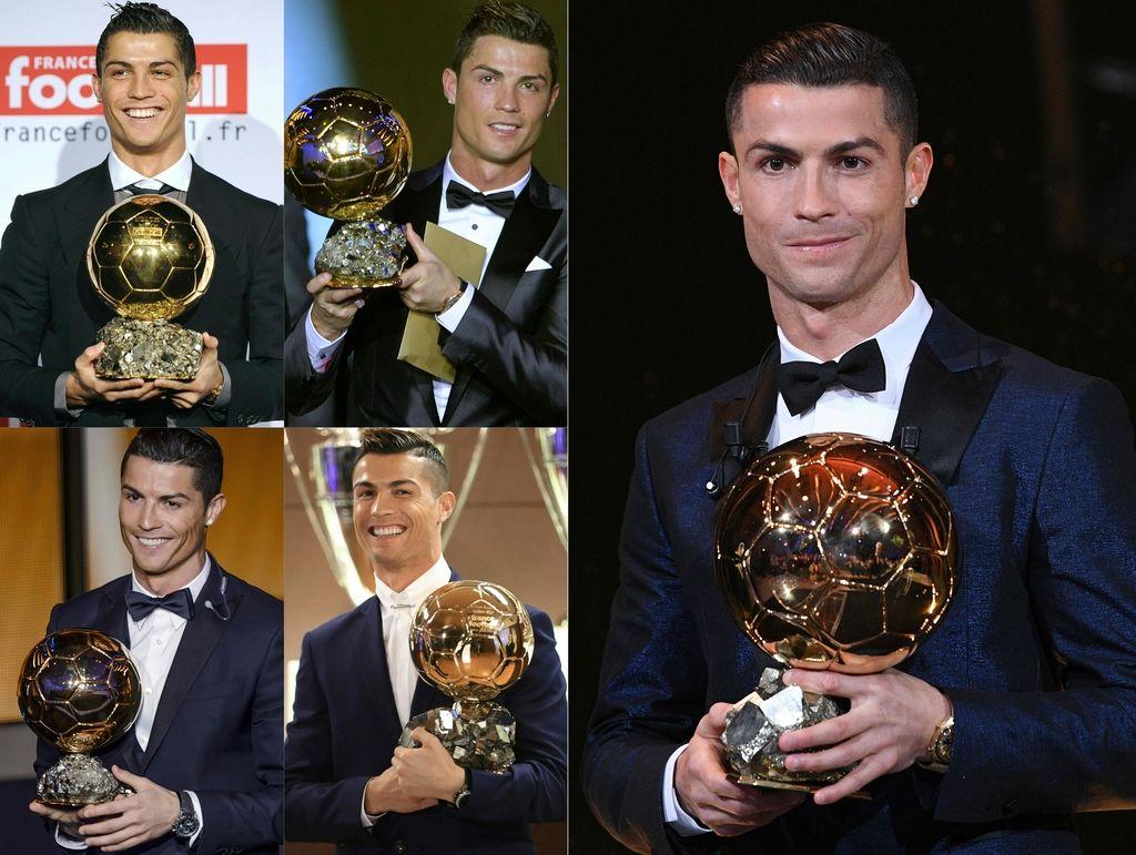 Ronaldo s peto zlato žogo ujel Messija