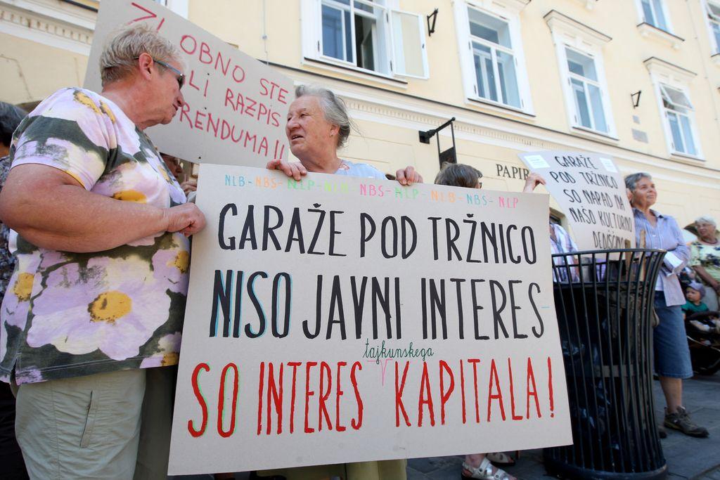 Tržnice ne dajo: protesta za zaščito kulturne in naravne dediščine