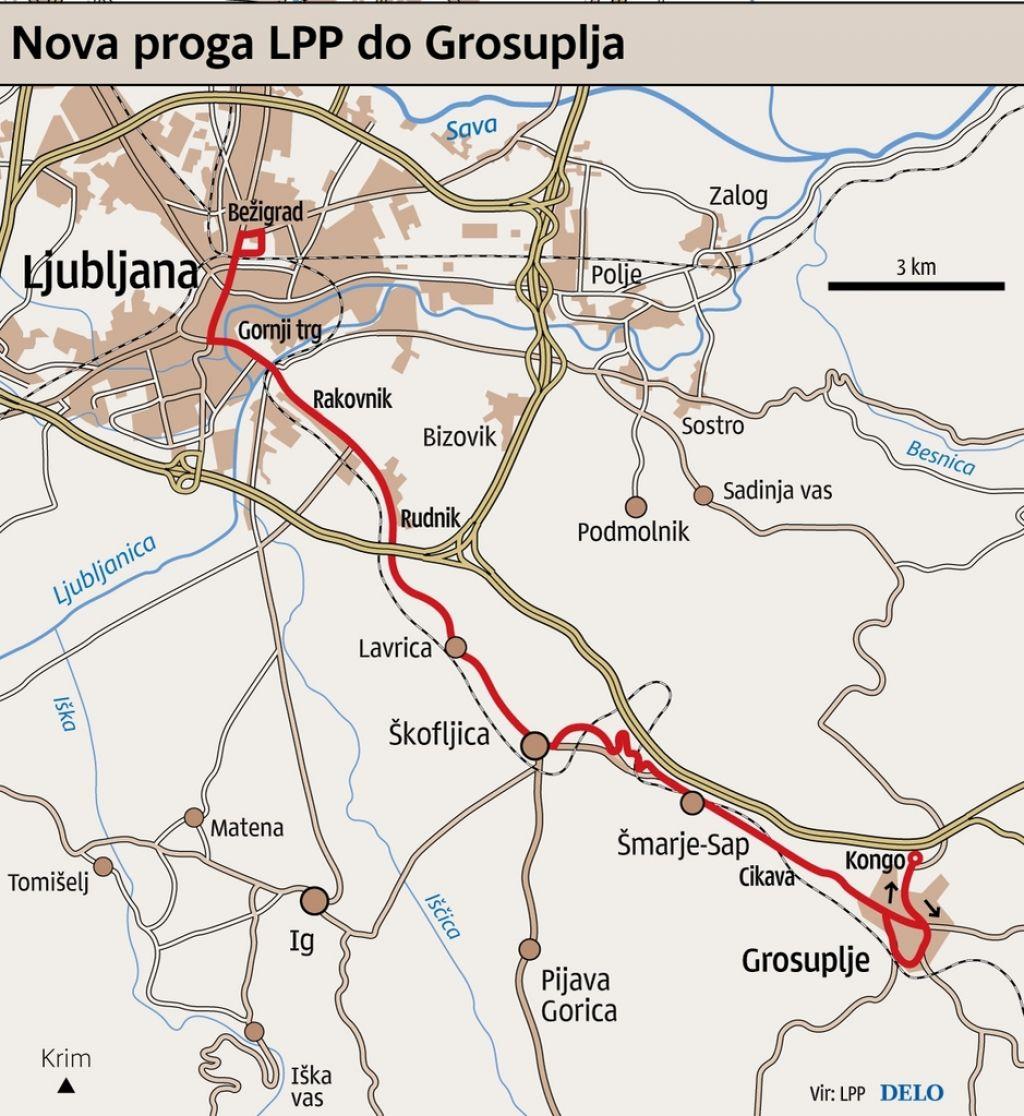 Mestni avtobus povezal Grosuplje in Ig