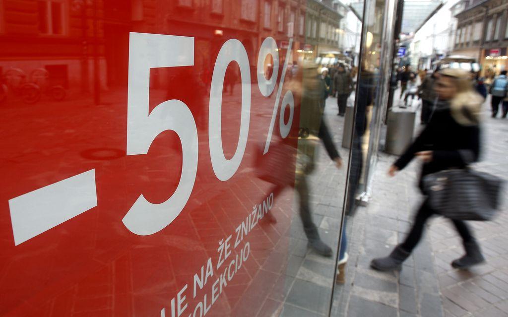 Zimske razprodaje se začnejo v ponedeljek
