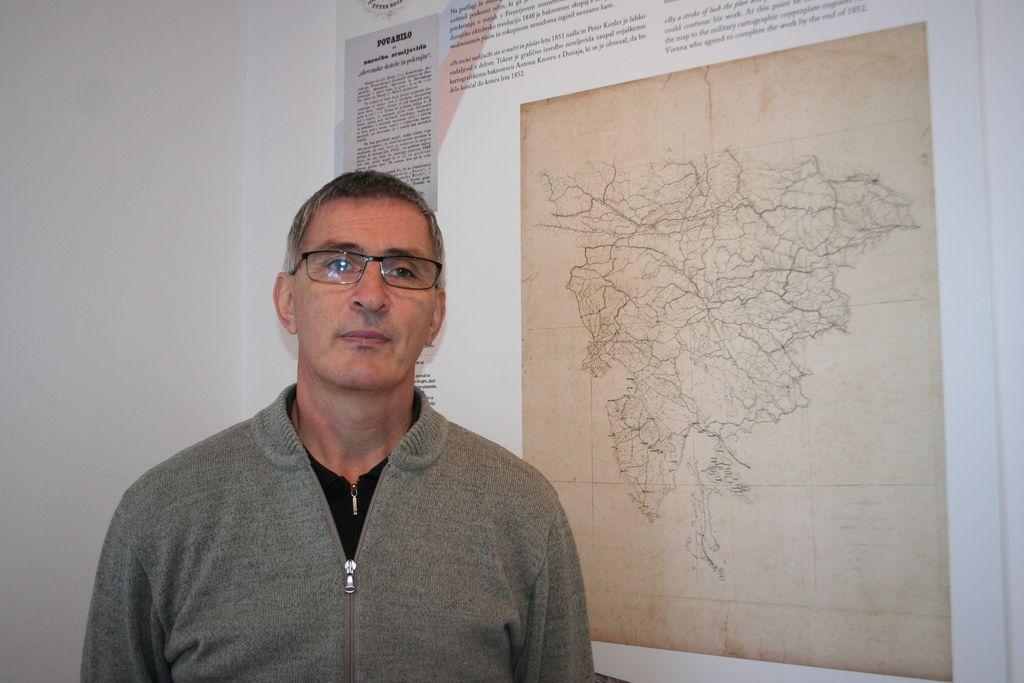 Našli poskusni izvod Kozlerjevega zemljevida