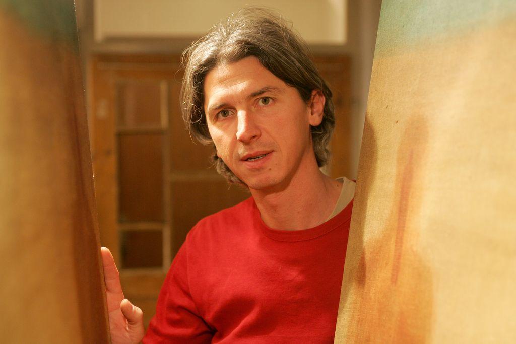 V dunajski Skici razstava slikarja Žige Okorna