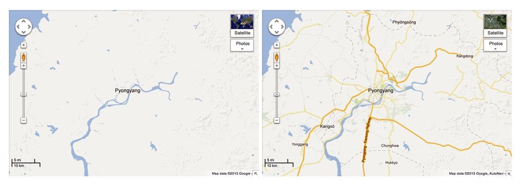 Google Objavil Natancen Zemljevid Severne Koreje