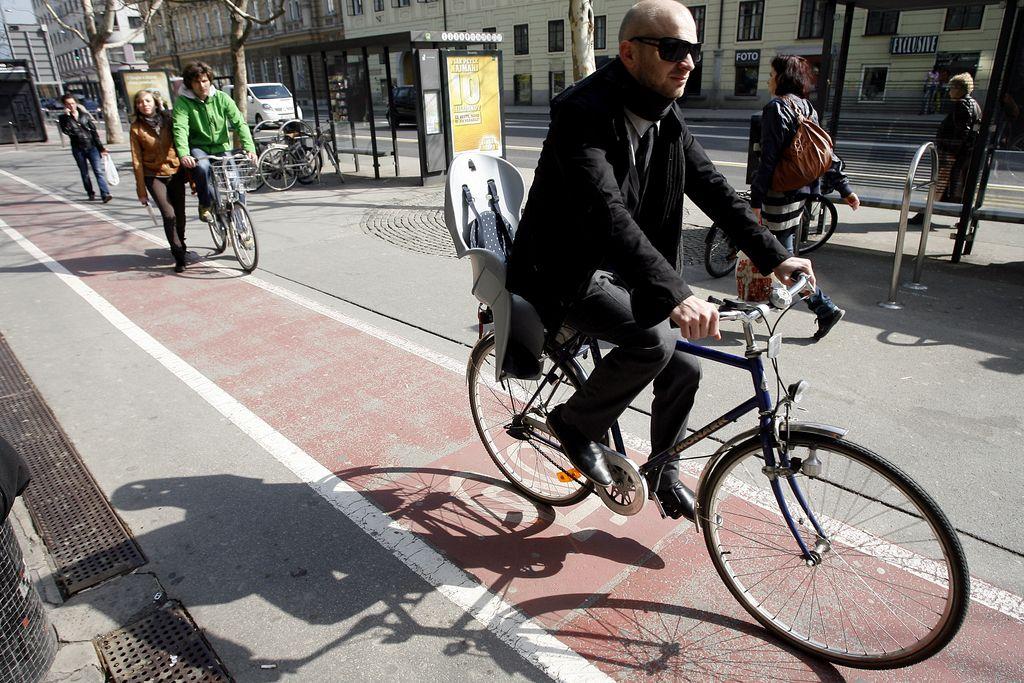 Ljubljana 13. do kolesarjev najbolj prijazno mesto