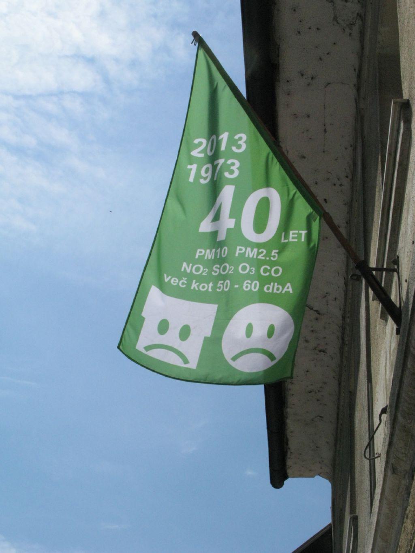Zelene zastave za poljansko obvoznico