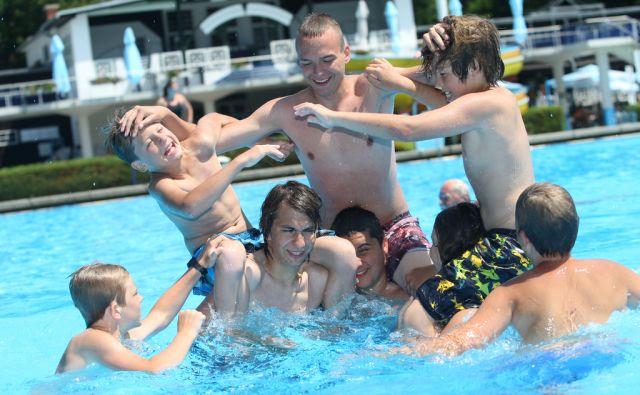 Slovenija, Maribor, 11.7.2012 - kopalisce Mariborski otok  foto:Tadej Regent/Delo