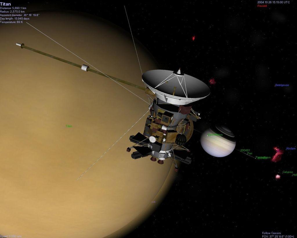»Gospodinjska« plastika v Titanovi atmosferi