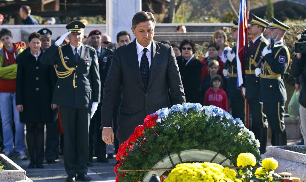 Pahor položil venec k spomeniku Jožefa Klekla
