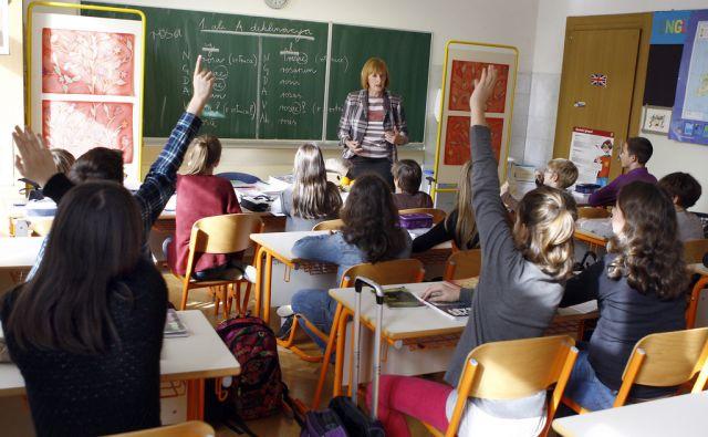 Pouk latinščine na osnovni šoli Prežihov Voranc v Ljubljani 6. novembra 2013.