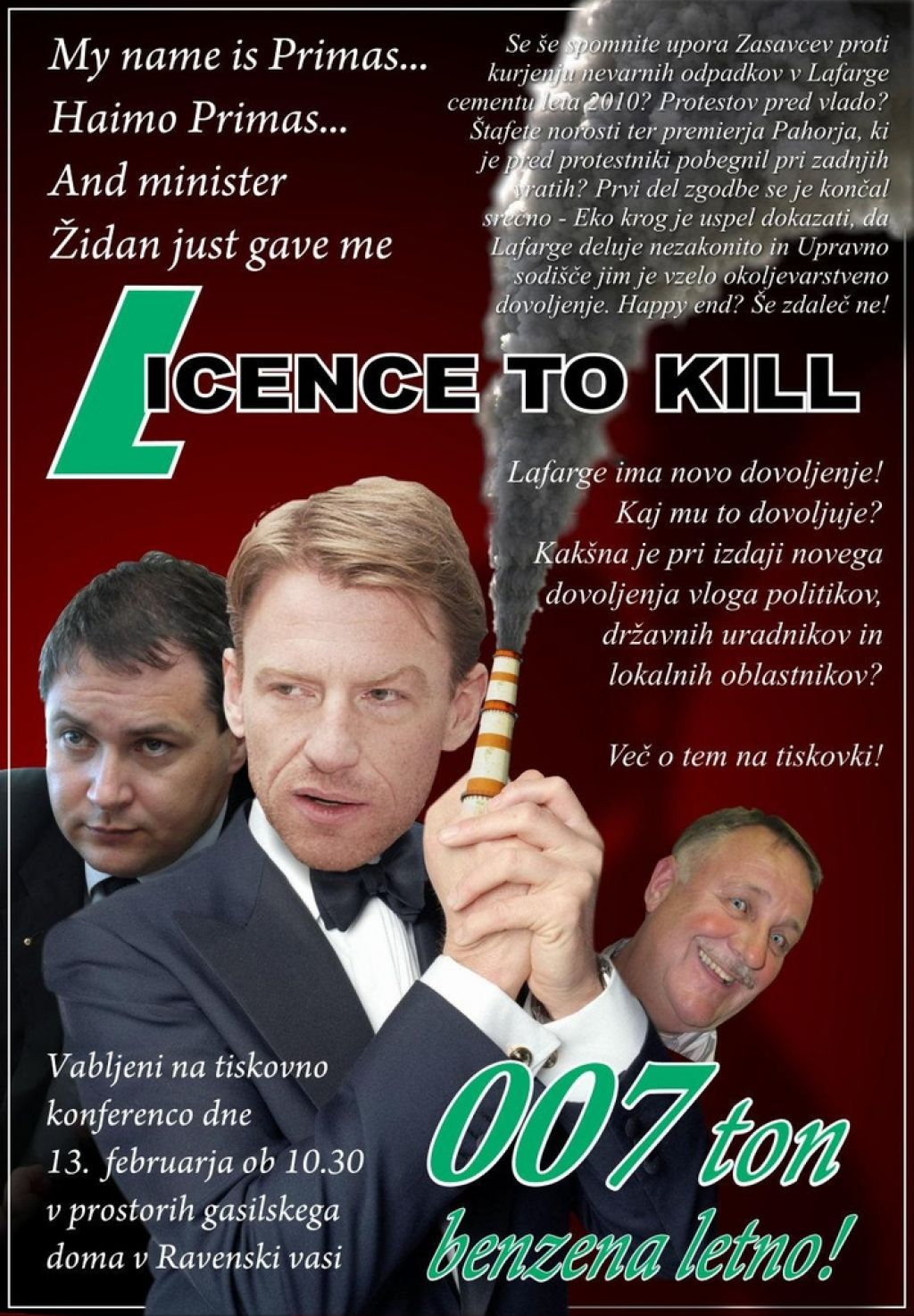 Eko krog: Dovoljenje za Lafarge je dovoljenje za ubijanje