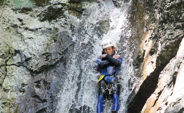 Bovec, 2.08.2012, kanjoning na potoku Susec. Foto: Marko Feist