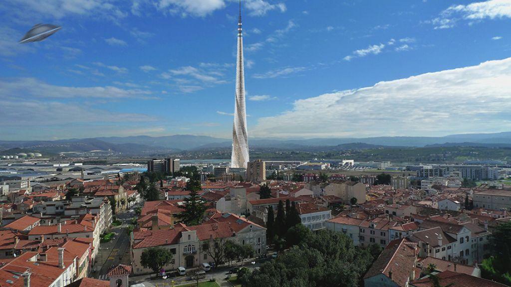 Popovič gradi 400 metrski stolp v oblakih
