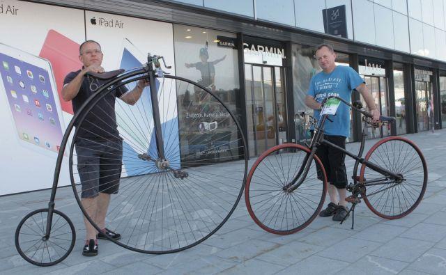 Starodobni kolesi za Polet. Ljubljana, 07.06.2014