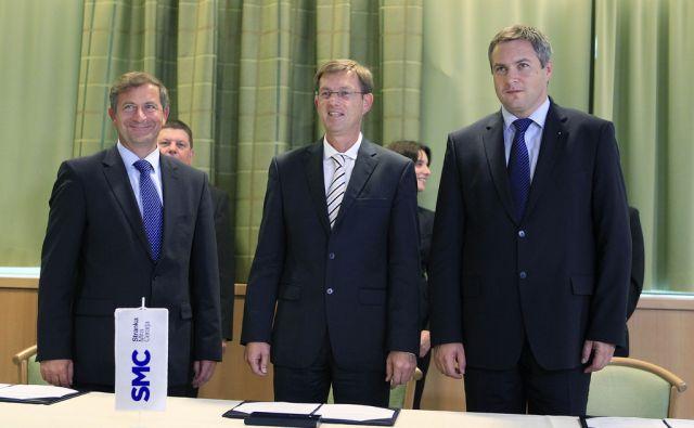 vidic/podpis koalicijskega sporazuma