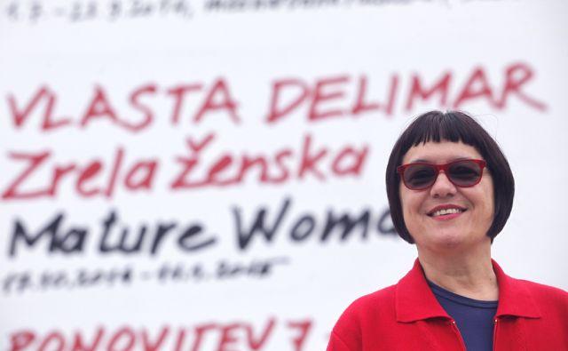 Performerka Vlasta Delimar razstavlja v  +Msgumu .V Ljubljani 16.10.2014