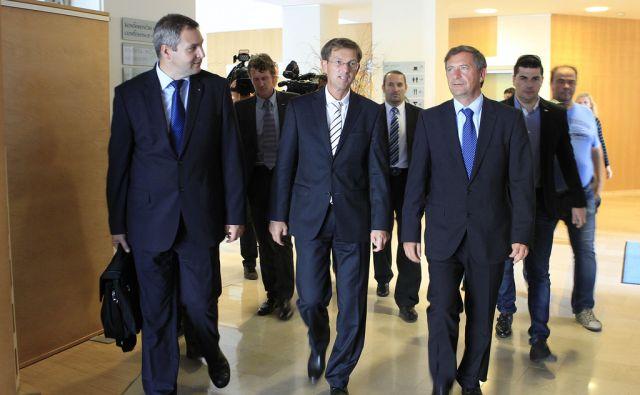Podpis koalicijskega sporazuma med SMC, DeSUS in SD v Ljkubljani, 8. septembra 2014