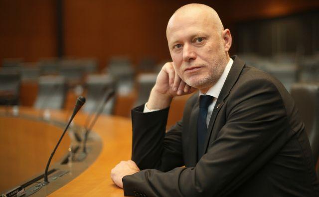 Milan Brglez predsednik državnega zbora v Ljubljani, Slovenija 23.decembra 2014.