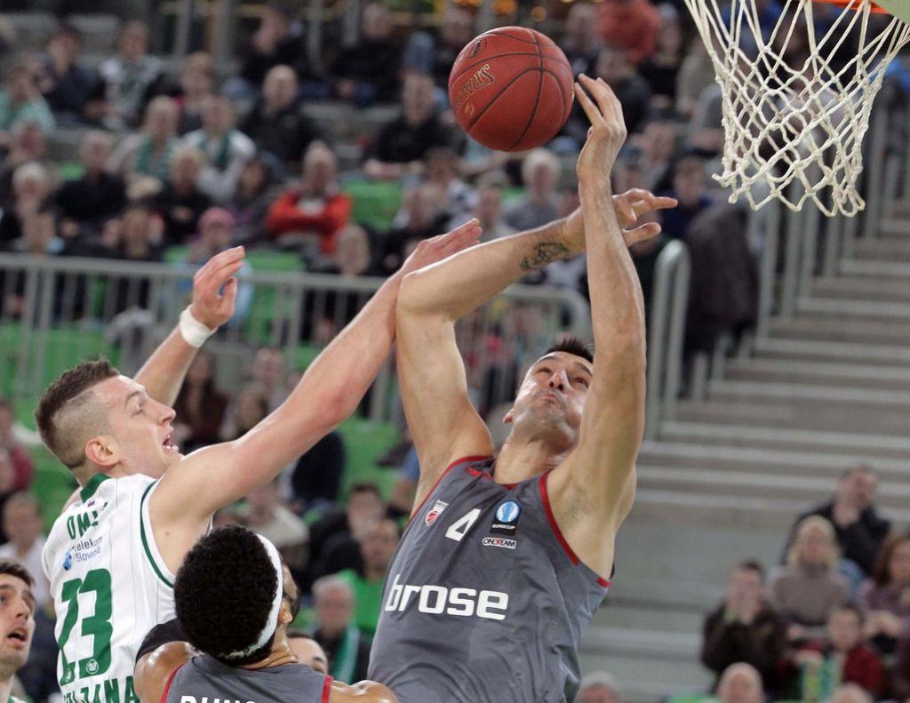 Evropski pokal: Olimpija v Bambergu ostala praznih rok