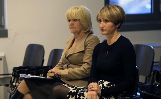 Romana Pajenk in Milana Lah na sodišču, 18.12.2014, Maribor