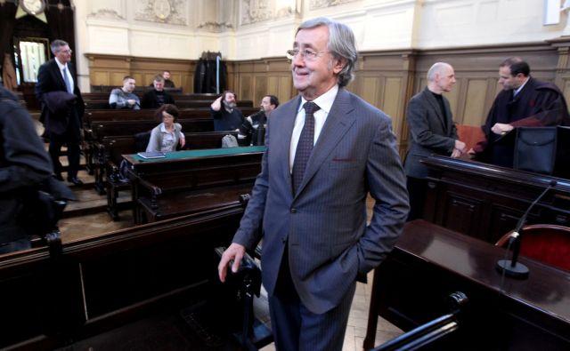 Slovenija.Ljubljana.30.01.2012 Walter Wolf na sodiscu.Foto:Mavric Pivk/DELO