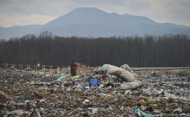 Deponija Barje 29.1.2015 Ljubljana Slovenija