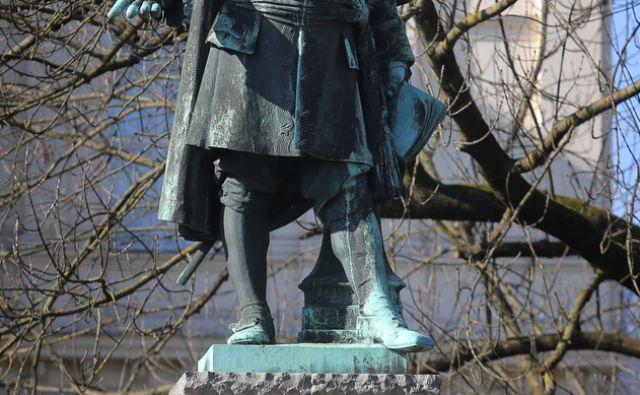 Spomenik Janezu Vajkardu Valvasorju 19.2.2015Ljubljana Slovenija